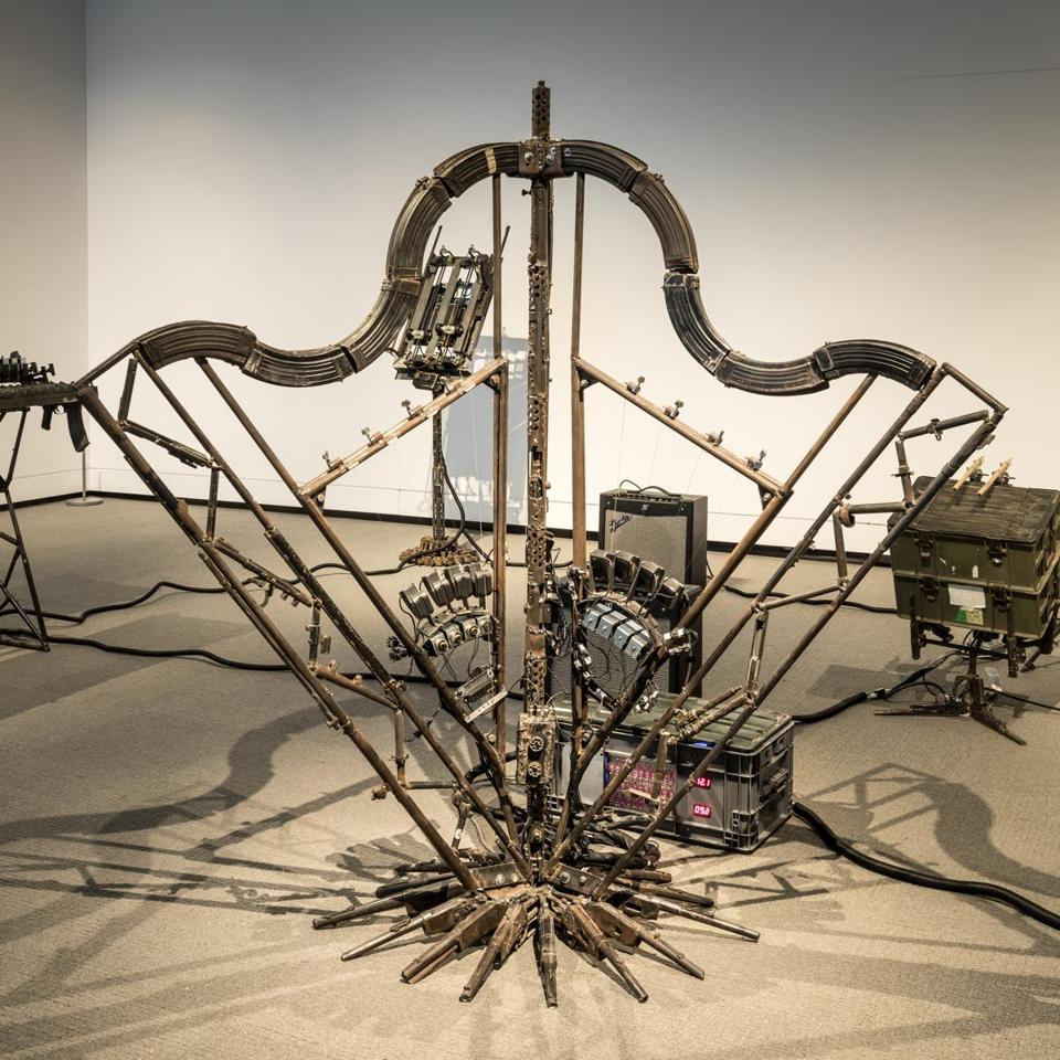 "Pedro Reyes's ""Disarm Mechanized II,"" in ""Playtime."""
